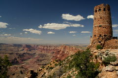 Desert view. Commanding view over Grand Canyon royalty free stock photo