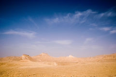 Desert view. Eith sky and clouds Royalty Free Stock Images