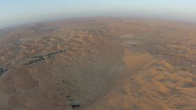 Desert  view from the air early in the morning stock footage