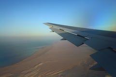 Desert view from  airplane Stock Photo
