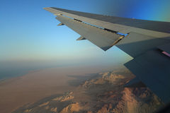 Desert  view from the airplane Stock Image