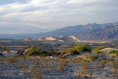 Desert view of death valley Stock Images