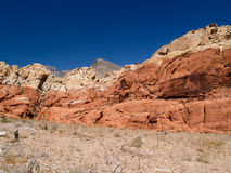 Desert View with dramatic red rock out crop Royalty Free Stock Photos