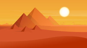 Desert View Egypt Pyramids Sunset Royalty Free Stock Photos