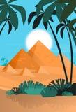 Desert View Egypt Pyramids Sunset Stock Photo
