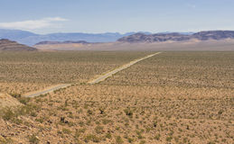 Desert view of Old Spanish Trail Highway, Nevada, USA Stock Images