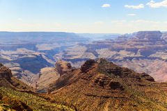 Desert View Panorama. Part of the Grand Canyon in Arizona seen from Desert View viewpoint Stock Images