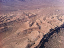 Desert view from the plane. Stock Images