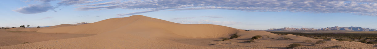 Desert view. Some sand dunes in a semi desert area in Mongolia Stock Image