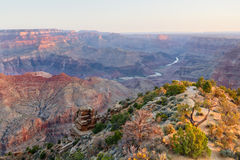 Desert View at Sunrise Stock Image