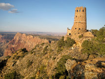Desert View Watchtower (Arizona, USA). Indian Watchtower at Desert View located on the South Rim of the Grand Canyon National Park (Arizona, USA Stock Photos