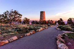 Desert View Watchtower at Sunrise Stock Photography