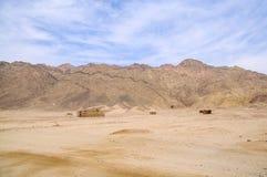 Desert village. Landscape of remote Bedouin village in desert Royalty Free Stock Photos