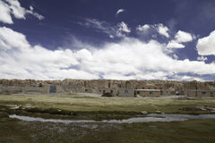 Desert village altiplano Bolivia Stock Photo