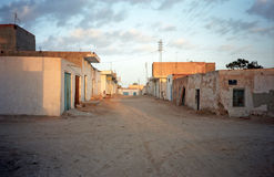Desert village, Douz, Tunisia. Desert village scene in Douz, Tunisia Royalty Free Stock Photography