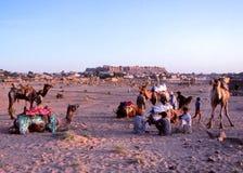Desert village life, Jaisalmer, India Stock Images