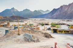 The desert village Stock Photo