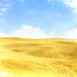 Desert vintage landscape with clouds royalty free stock image