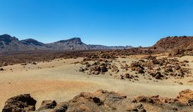 Desert of Volcanic Rocks Royalty Free Stock Images