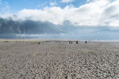 Desert of Volcano Bromo. East Java , Indonesia royalty free stock photography