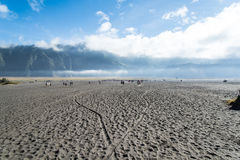 Desert of Volcano Bromo. East Java , Indonesia royalty free stock image