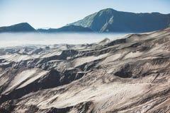 Desert of Volcano Bromo. Mountain Royalty Free Stock Photography