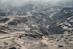 Desert of Volcano Bromo. In Tengger Semeru National Park, East Java, Indonesia royalty free stock photos