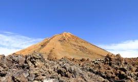 Desert volcano. In sunny day royalty free stock photo