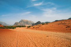 Desert in Wadi Rum Stock Photo