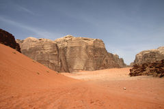 Desert in Wadi Rum Stock Photos