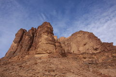 The Desert Wadi Rum in Jordan Royalty Free Stock Image