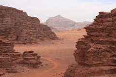 The Desert Wadi Rum in Jordan Stock Photography