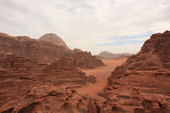 The Desert Wadi Rum in Jordan Royalty Free Stock Photo
