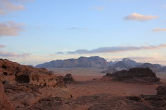 The Desert Wadi Rum in Jordan Royalty Free Stock Photography