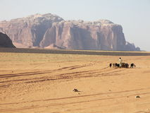 Desert Wadi Rum, Jordan Stock Photography