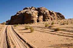 Desert Wadi Rum. Jordan. Voyage in desert Wadi Rum. Jordan Stock Photo