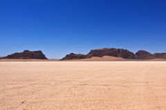 The Desert Wadi Rum of Jordan Royalty Free Stock Photos