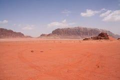 Desert WadiRum. Desert landscape in Wadi Rum, Jordan stock image