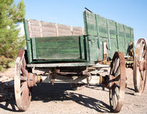 Desert Waggon. An old waggon in the Nevada Desert royalty free stock photo
