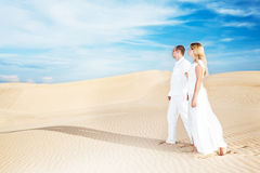 Desert walking Royalty Free Stock Photos