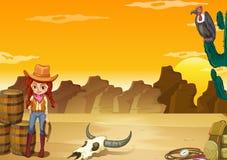 Desert. Wallpaper with desert scene in yellow color Stock Image