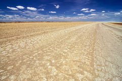 Desert Wasteland. Desert in La Guajira, Colombia with a deep blue sky Stock Photos