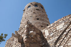 Desert Watch Tower above the Grand Canyon Royalty Free Stock Images