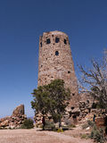 Desert Watch Tower above the Grand Canyon Royalty Free Stock Image
