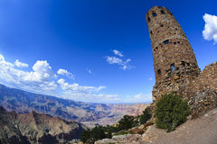 Desert Watchtower in Grand Canyon National Park Stock Photos