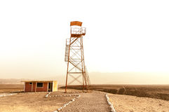 Desert watchtower in Nazca Royalty Free Stock Photos