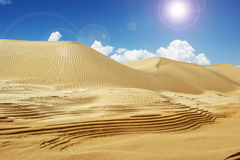 Desert and water. Water in an arid desert Royalty Free Stock Photo