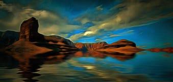 Desert Water Landscape Royalty Free Stock Photo
