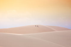 In the desert, White Sand Dunes, Mui Ne, Vietnam Royalty Free Stock Photography