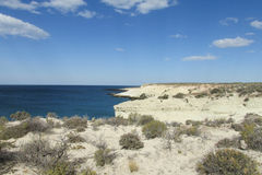 Desert white sand seashore Stock Photo